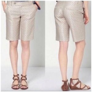 Anthropoligie • Cartonnier brocade bermuda Shorts